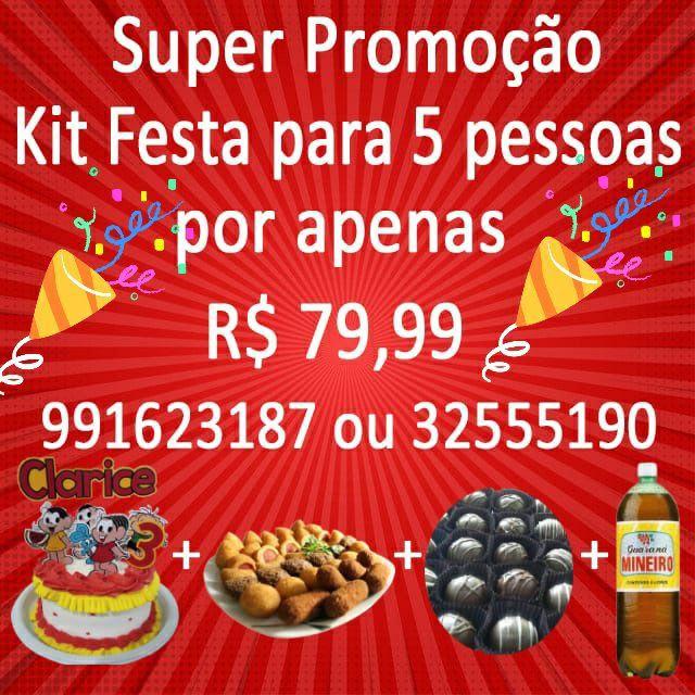 KIT FESTA + BRINDE  R$ 79,99