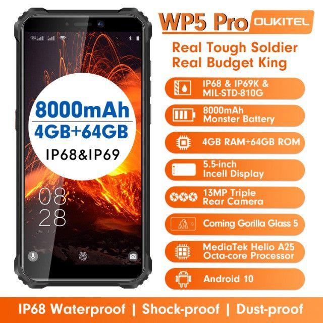 Smartphone Oukitel Wp5 Pro 8000mah Android 10 4gb/64gb