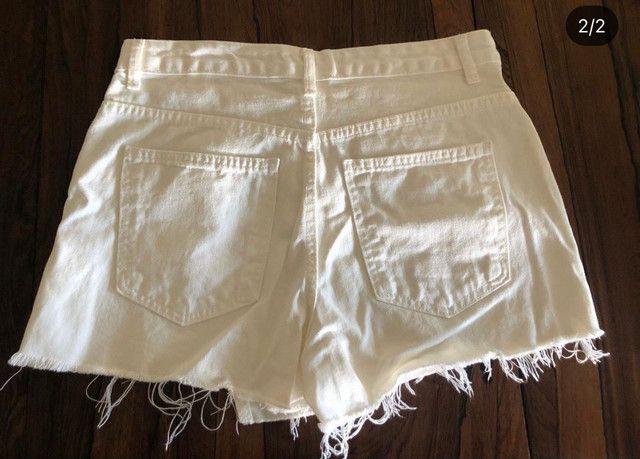 Saia short jeans branco - Foto 2
