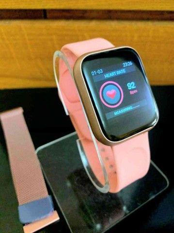 Relógio Smartwatch ThinFit W8 Android e Ios com 2 Pulseiras - Foto 2