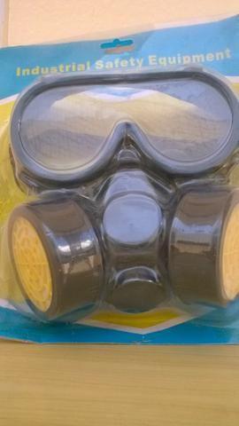 Máscaras de pintura de gás com oculos protetora contra poeira tempestades formalde
