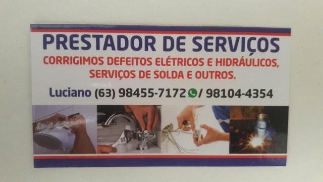 Eletricista encanador (63) 9 84557172 Zap