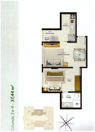 01 E 02 QUARTOS EM ITAPUÃ - Apartamento em Lançamentos no bairro Itapuã - Vila V... - Foto 4