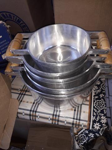 Panela de alumínio batido grosso - Foto 3