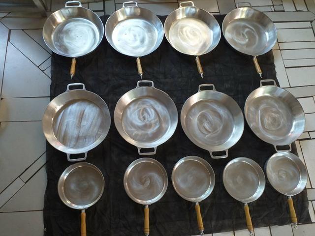 Frigideiras de alumínio batidos apartir 50