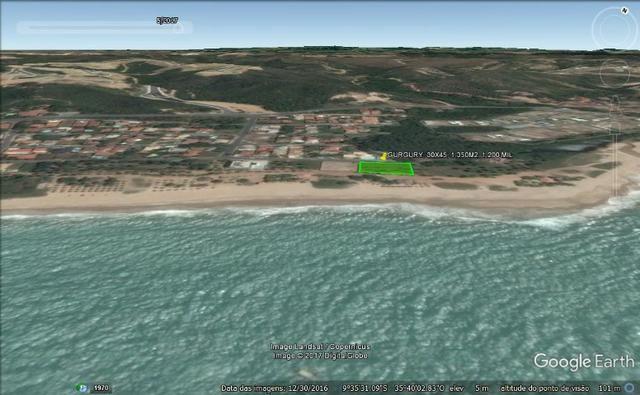 Terreno à beira mar 44x34 em guaxuma - Foto 4