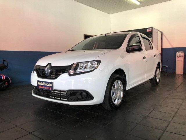 Renault Logan Authentique 1.0 Flex 2018 Completo - Foto 2