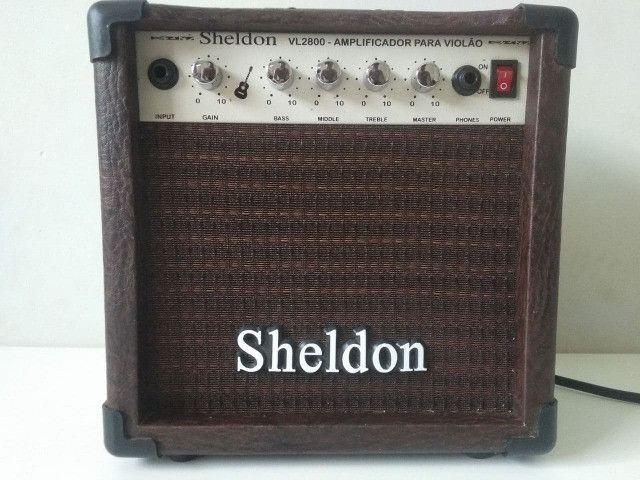 Caixa Amplificador Violão Sheldon Vl2800 15w - Foto 3