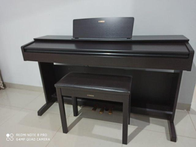 Piano Digital Yamaha Arius YDP-143 Marrom com 192 de Polifonia e 10 Timbres - Foto 2