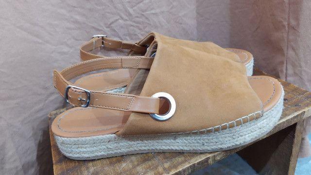 Sandália Plataforma camurça - Foto 2