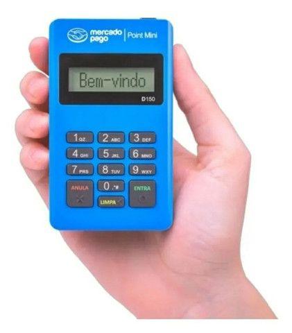 Maquininha de cartão sem mensalidades Point mini - Mercado Pago - Foto 3