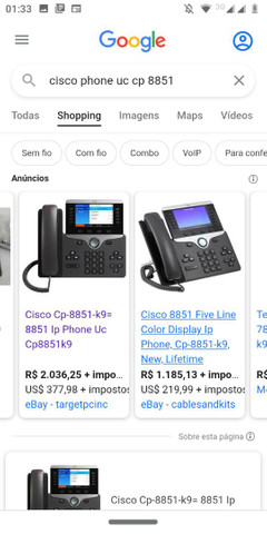 Cisco CP-8851 na caixa novo nunca usado aceito oferta  - Foto 3