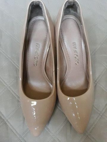 Sapato Scarpin Bico Fino Rosê - Foto 2