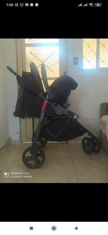 Carrinho galzerano+ bebê conforto - Foto 3