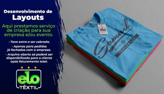 Camisas Personalizadas a Partir de 5 Unidades em Malha 100% Algodão Penteado - Serigrafia - Foto 4