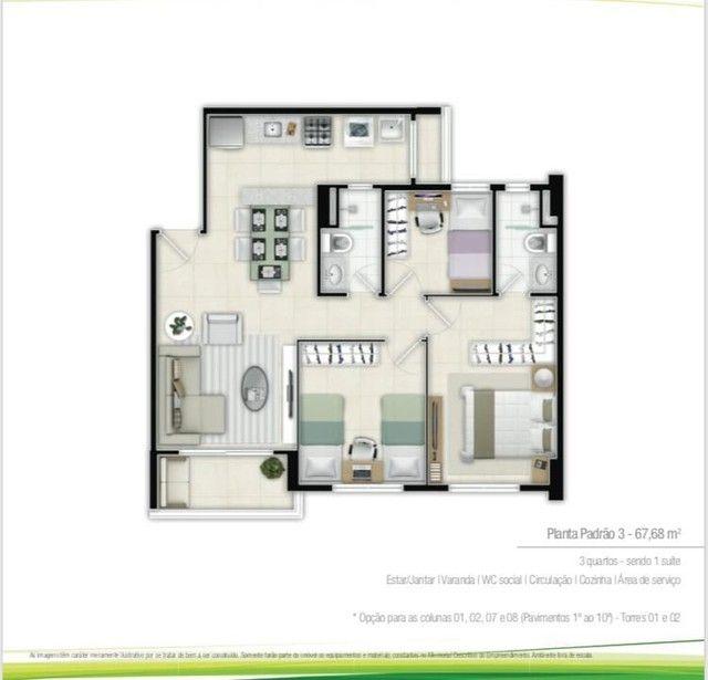 Duo residence, 2 e 3 qusrtos NOVO, pronto pra morar - Foto 17