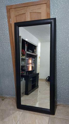 Espelho de Parede ou Chão com Borda em Courino