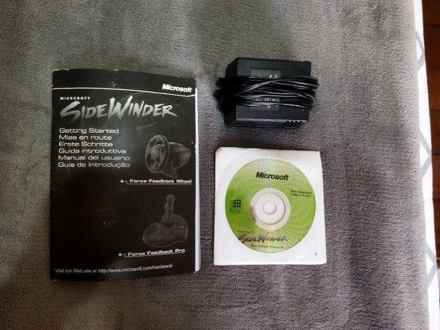 Volante jogos Microsoft SideWinder Force Feedback Wheel - R$350,00/unidade - 3 unidades - Foto 5