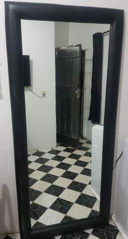 Espelho de Parede ou Chão com Borda em Courino - Foto 6