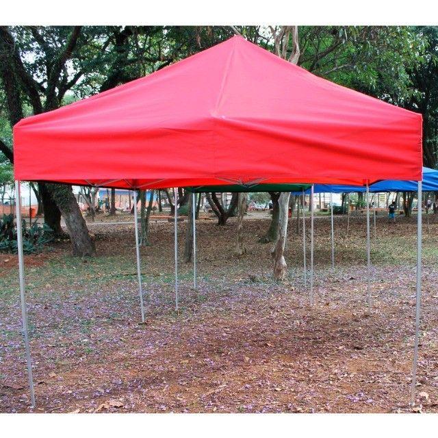 Tenda Sanfonada 3x3 Nylon/Emborrachada - Foto 2