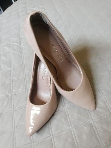 Sapato Scarpin Bico Fino Rosê - Foto 3
