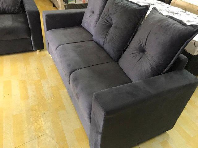 Frete Gratis*Conjunto Sofa Animalle 2 e 3 Lugares, Novo!! - Foto 3