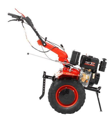 Micro Trator Motocultivador 10hp 406cc Diesel Partida Elétrica com Enxada Rotativa  - Foto 3