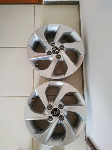 Jogo de Rodas Hyundai HB20 Aro 15 Prata