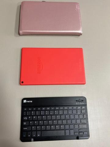 Amazon Fire HD 10 Tablet 10.1? com Alexa Hands-free 1080p 32GB + Fintie Teclado Case - Foto 4