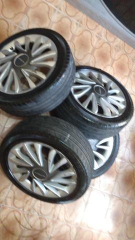 Vendo aros 17 pneus 205_50_R17. não respondo chat ! - Foto 2
