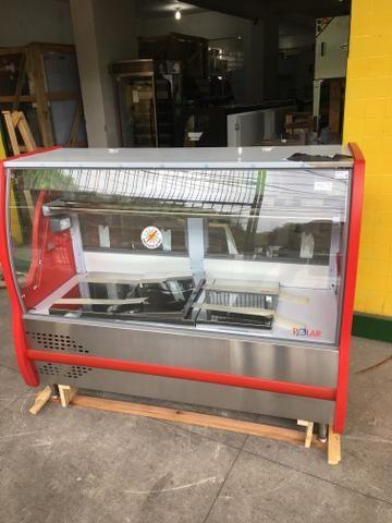Balcão refrigerado para carnes com bandejas em inox - tamanho 1,50m - Foto 2