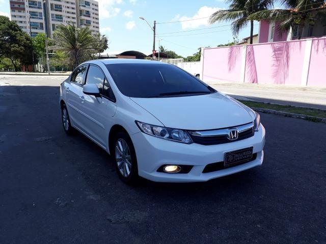 Honda Civic LXS 1.8 flex, automático, Branco, super novo - Foto 2