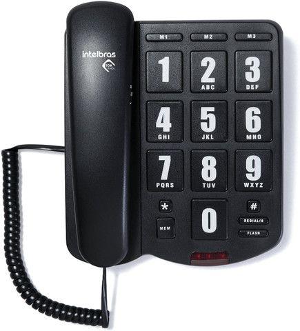 Telefone Com Fio Tok Fácil Com Teclas Grandes Intelbras