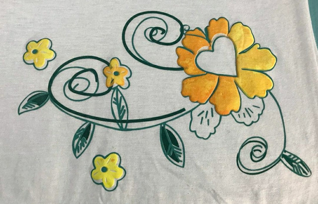 Blusa De Malha Feminina Com estampa de flores emborrachada - Foto 3