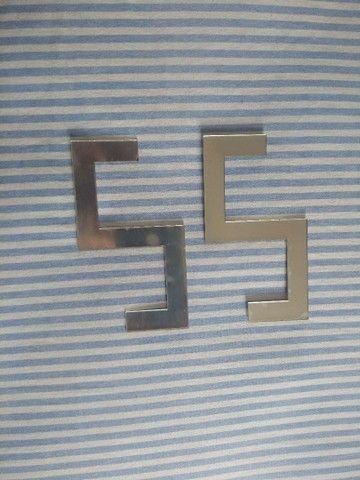 Faixinha de acrílico Prata espelhado - Foto 3