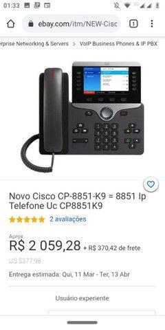 Cisco CP-8851 na caixa novo nunca usado aceito oferta  - Foto 4