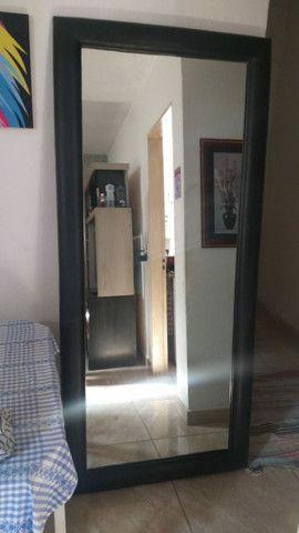 Espelho de Parede ou Chão com Borda em Courino - Foto 5