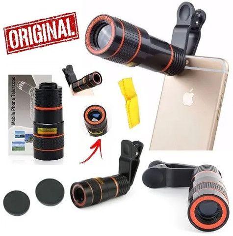 Super Kit fotografia com telescópio para celular mais tripé - Foto 2