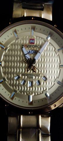 Relógio Dourado Naviforce NF9115M - Foto 3