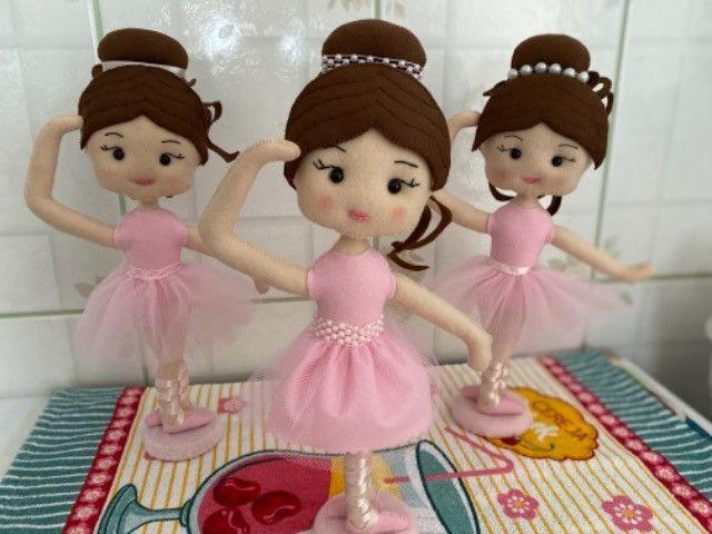 Bailarina em Feltro - Foto 3