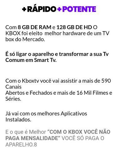Tv box Android 11 128 gigas memória interna 8 ram - Foto 4