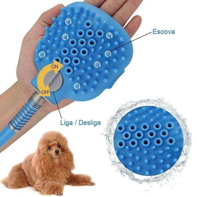 Ducha Massageadora Para Banho Em Cães E Gatos - Produto Novo  - Foto 6
