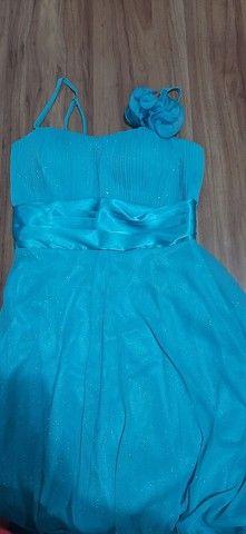 Vestido festa azul pastel - Foto 3