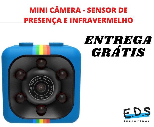 Mini Câmera SQ11 Espiã Visão Noturna Full HD - Foto 2
