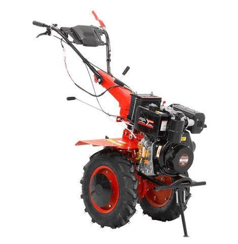 Micro Trator Motocultivador 10hp 406cc Diesel Partida Elétrica com Enxada Rotativa  - Foto 4