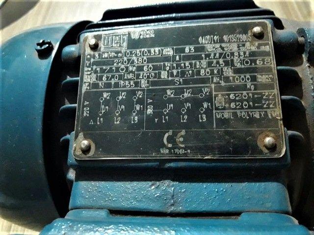 Motores trifásicos novos 0,33 CV 1700 RPM - Foto 2