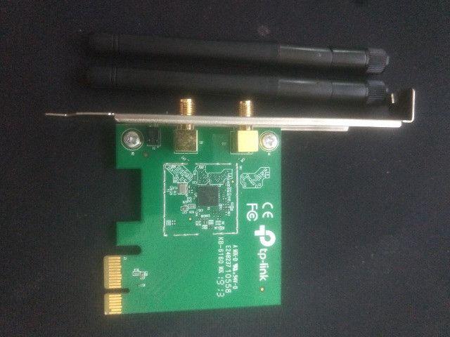 Adaptador de Rede Pci Express com 2 Antenas TP-Link 100 MBps - Foto 2