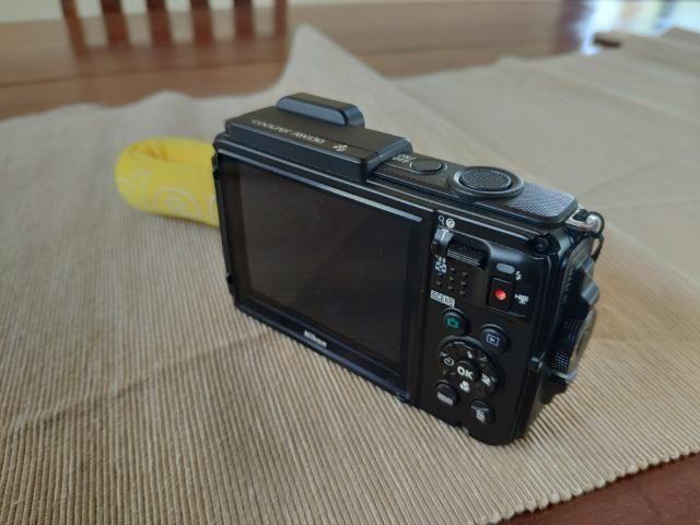 Câmera Nikon Coolpix AW130 à Prova Dágua FullHD Amarelo . NOVA - Foto 3