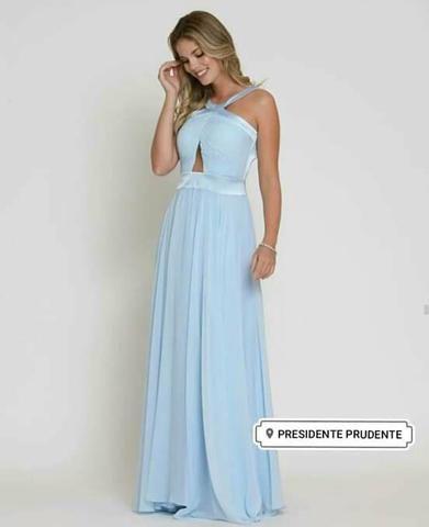 Vestido Azul Celeste Novo 42