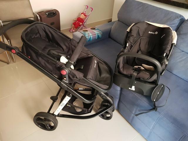 Vendo carrinho 3 em 1 para bebê + espelho para carro - Foto 4